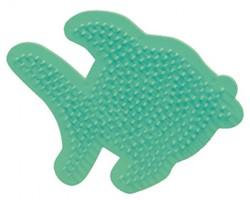 Ses  strijkkralen bord vis
