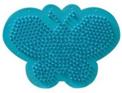 Ses  strijkkralen bord vlinder