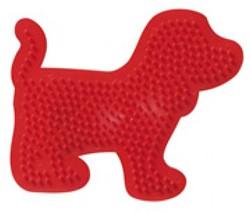 Ses  strijkkralen bord hond