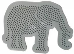 Ses  strijkkralen bord olifant