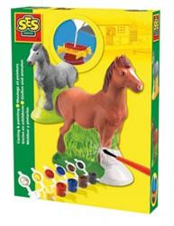 Ses  knutselspullen Figuren gieten, paard