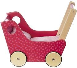 Sigikid  houten poppenmeubel poppenwagen Roze