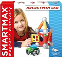 Smartmax  constructie speelgoed House with car - 307