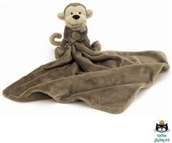Jellycat  Apen doekje bruin - 33 cm