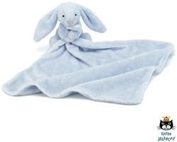 Jellycat  knuffeldoekje konijn blauw 33cm