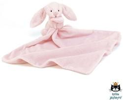Jellycat  Bashful knuffeldoekje Pink Bunny Soother - 33 cm