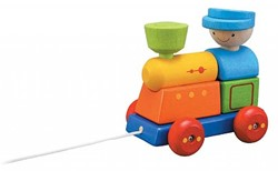 Plan Toys  houten trekfiguur Pull a long sorteer trein