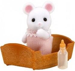 Sylvanian Families  speel figuren White mouse baby - 3420