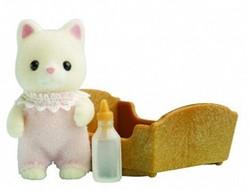 Sylvanian Families  speel figuren Silk Cat Baby - 3417