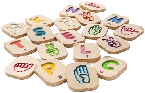 Plan Toys houten Handgebaren alfabet 5672