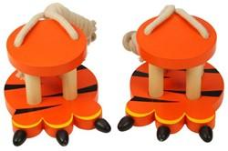 BigJigs  houten buitenspeelgoed Tijger loopklossen