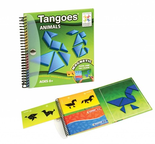 Smart Games spel Magnetic Travel SmartGames, Tangoes Animals
