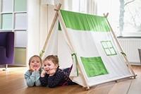 Buitenspeel  houten speeltent Triangle tent-3