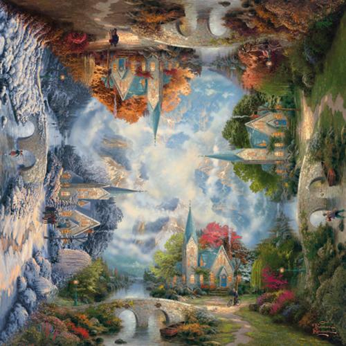 Schmidt The Mountain Chapel, 1000 stukjes - Puzzel - 12+