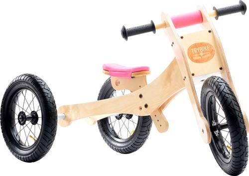 Trybike  houten loopfiets Trybike 4-in-1 Roze-1