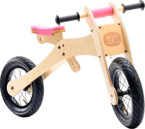 Trybike  houten loopfiets Trybike 4-in-1 Roze-3