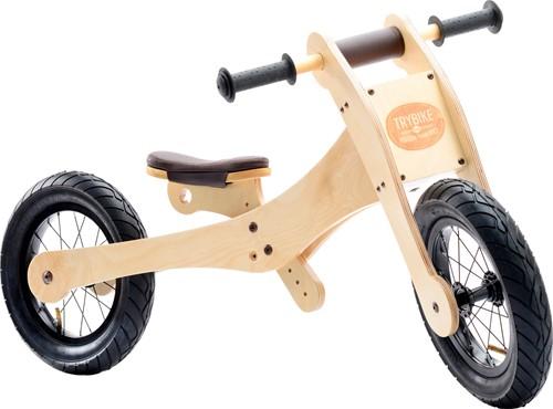 Trybike  houten loopfiets 4-in-1 Bruin-3