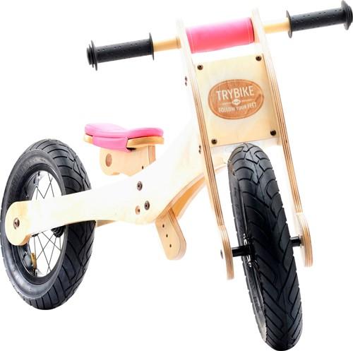 Trybike  houten loopfiets Trybike 4-in-1 Roze-2