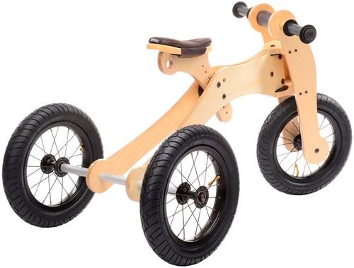 Trybike  houten loopfiets 4-in-1 Bruin-2