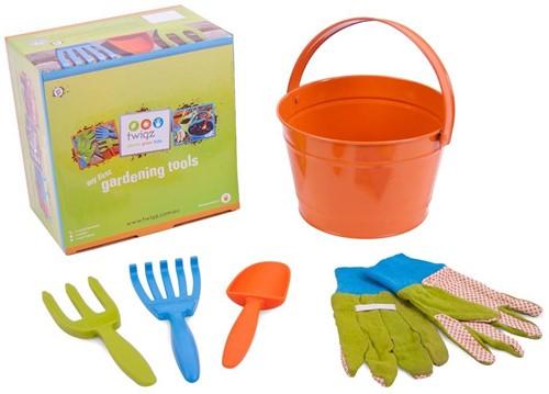 Planet Happy  kinder tuinspullen My first gardening set oranje