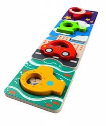 Plan Toys houten vormenpuzzel Voertuigen puzzel