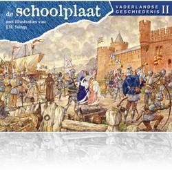 Kinderboeken  educatieboek de schoolplaat vaderlandse geschidenis deel 2