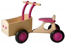 Van Dijk Toys  houten Bakfiets roze
