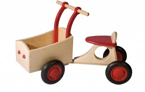 Van Dijk Toys houten Bakfiets rood-1