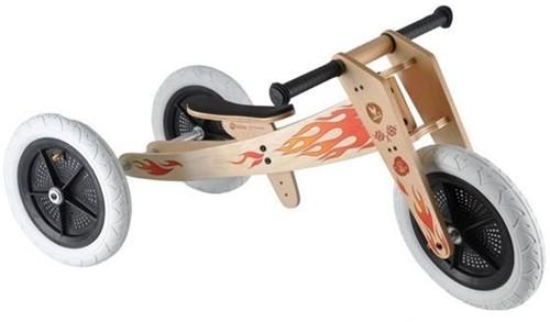 Wishbonebike  houten loopfiets 3 bikes in 1 - Vlammen