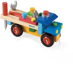 Janod  Bricolo houten constructie speelgoed Vrachtwagen - original + acces