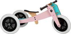 Wishbonebike houten loopfiets 3-bikes-in-1 roze