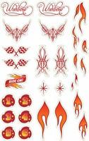 Wishbonebike  loopfiets accessoires stickers Vlammen-1
