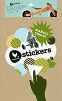 Wishbonebike  loopfiets accessoires stickers Vlammen-2