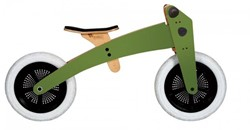 Wishbonebike  houten loopfiets 2 bikes in 1 groen