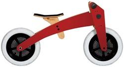 Wishbonebike  houten loopfiets 2 bikes in 1 rood