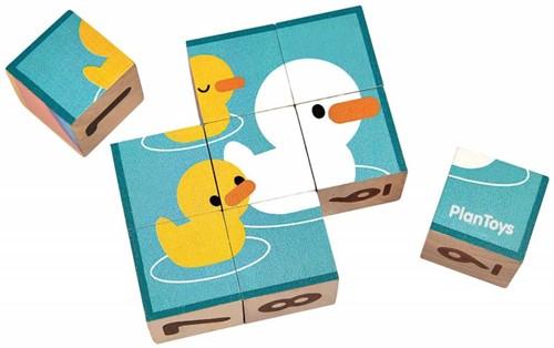Plan Toys  houten blokpuzzel Cubes 5430